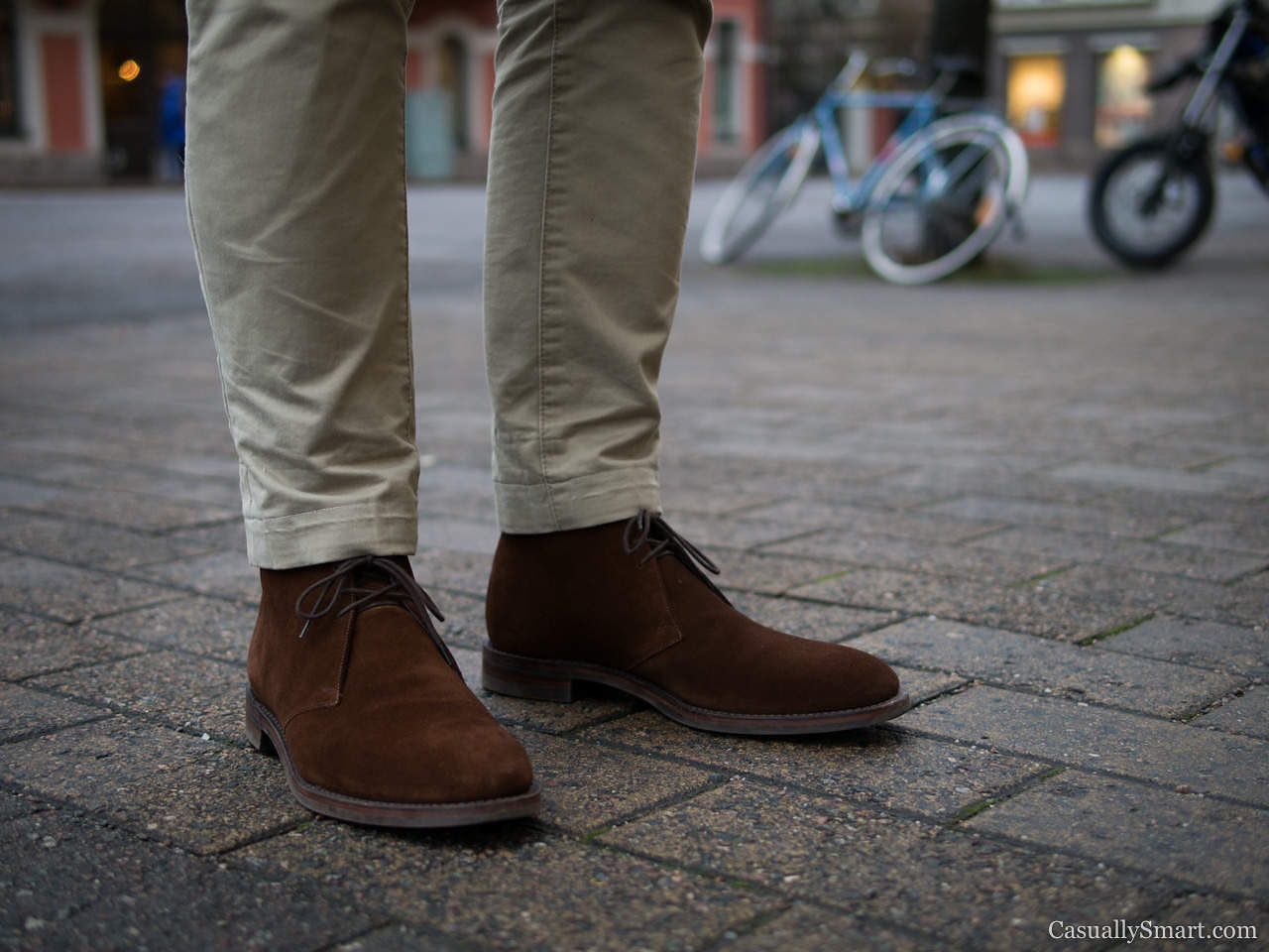 Brown Chinos Brown Shoes