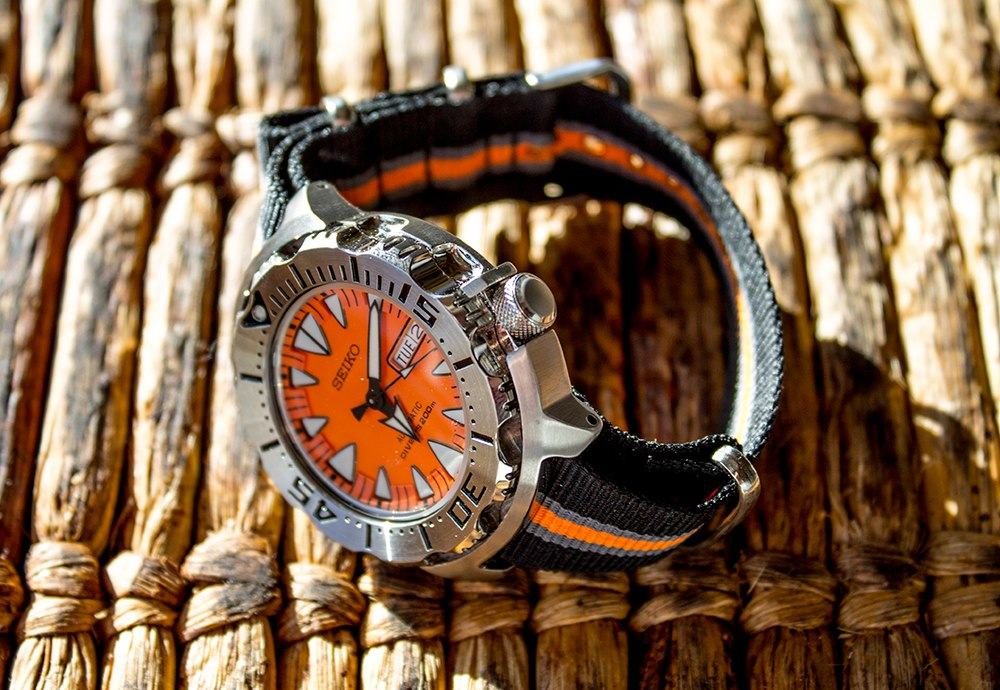 Seiko Orange Monster (SRP309) received a lighter look to NATO strap.