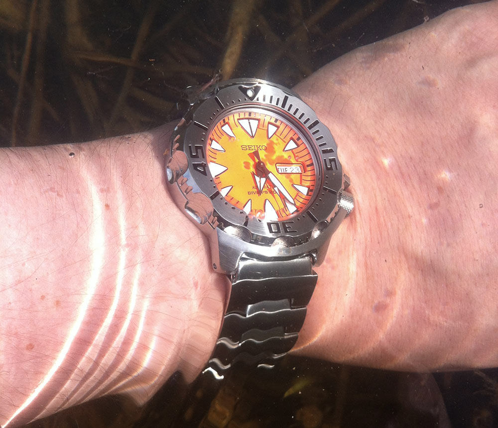 Clear dialer is a diver watch a virtue.