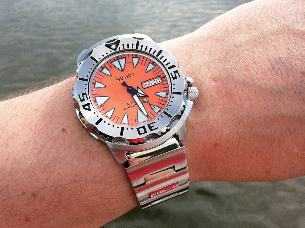 Seiko Orange Monster is a beast in the water.